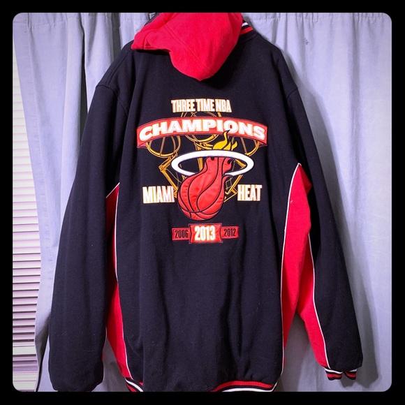 Other - Miami Heat reversible championship jacket